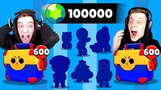 100.000 GEMS💎 MEGA BOX OPENING BATTLE! 8x LEGENDÄRER BRAWLER! 😱 Brawl Stars deutsch