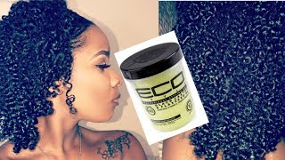 Wash & Go using Eco style Gel Black Castor & Flaxseed Oil (Natural Curly Hair)