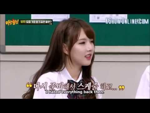 Knowing Brother_Heechul's advise to GFriend & not used for being nice ;)