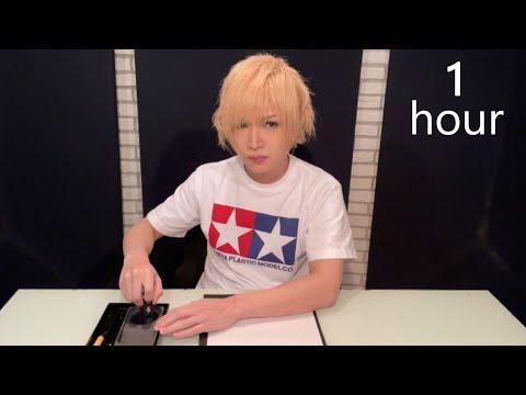 【鬼龍院】書き初め用に墨を磨る動画1時間