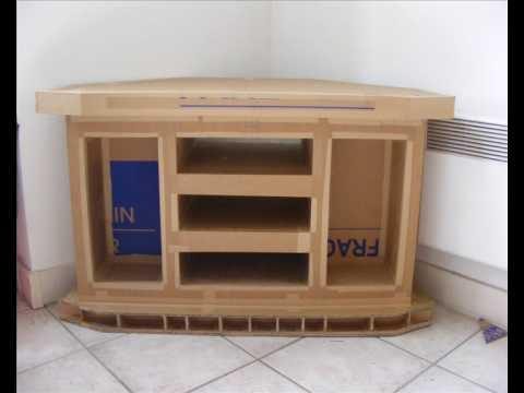 un meuble de t l vision en carton de sa conception jusqu 39 sa construction youtube. Black Bedroom Furniture Sets. Home Design Ideas