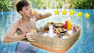 5 star hotel FLOATING BREAKFAST mukbang