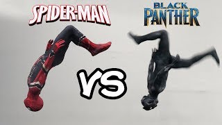 Infinity War Spiderman VS Black Panther In Real Life (Avengers, Parkour, Stunts)