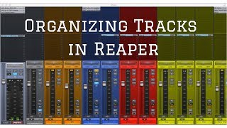 Organizing Tracks in Reaper-Anatomy of Recording