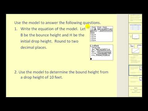 Finding The Equation Of Best Fit Using A Graphing Calculator Ck 12