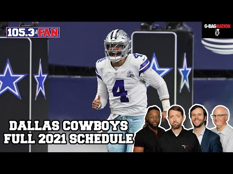 Dallas Cowboys Full 2021 Schedule Reveal | GBag Nation