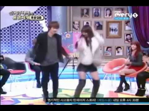 Super Junior Eunhyuk dancing with Sistar