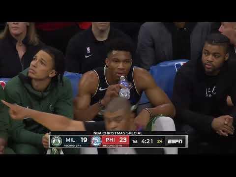 Milwaukee Bucks vs Philadelphia 76ers 1st Half Highlights | December 25, 2019-20 NBA Season