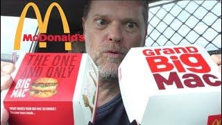 McDonald's GRAND Big Mac Versus Big Mac Comparison Review - Greg's Kitchen