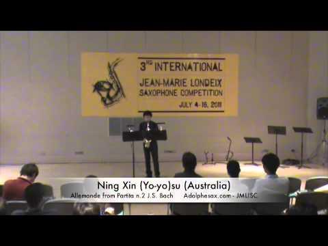 3rd JMLISC: Ning Xin (Yo-yo)su (Australia) Allemande Partita N.2 J.S.Bach
