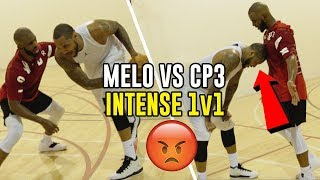 Carmelo Anthony & Chris Paul GO AT IT In SECRET Vegas Workout! 1 V 1s Get INTENSE 😱