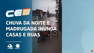 Chuva da noite e madrugada inunda casas e ruas