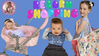 SHOPPING with NEW REBORN for BABY CLOTHES and TOYS!