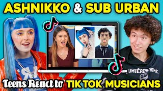 Ashnikko And Sub Urban React To Teens React To Viral TikTok Songs