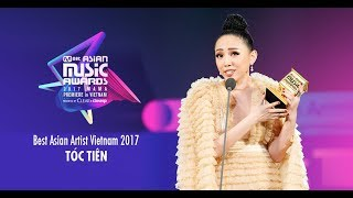 TÓC TIÊN xúc động nhận giải MAMA Best Asian Artist Vietnam 2017
