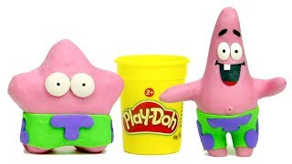 Spongebob & Patrick star Superhero stop motion video for kids