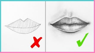 DOs & DON'Ts: How to Draw Realistic Lips & the Mouth Step By Step   Art Drawing Tutorial