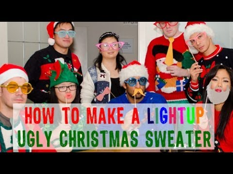 How to make ugly sweaters for christmas