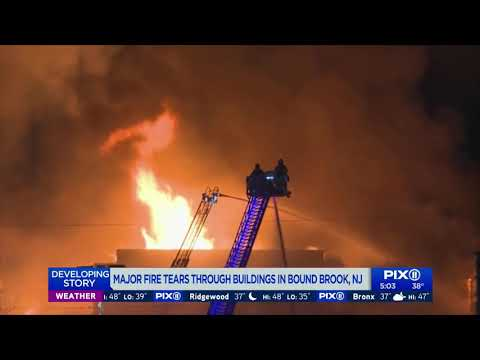 Massive fire tears through buildings in Bound Brook, NJ