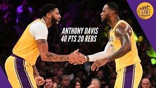 Breakdown of Anthony Davis' 40 points & 20 rebounds vs Memphis (IN 3 QUARTERS!!!)