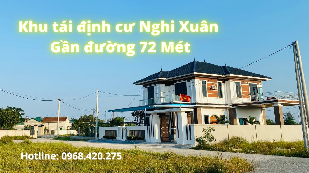 Đất đẹp tái định cư Nghi Xuân, gần đường 72 mét - LH: 0968.420.275 video