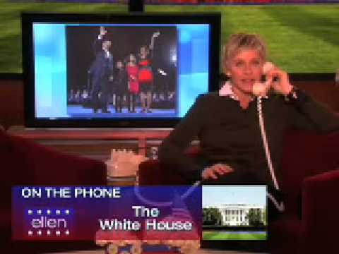 Ellen Calls Obama On Presidents Day February 16 2009