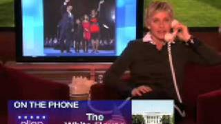 Ellen Calls Obama On Presidents Day February 16 2009