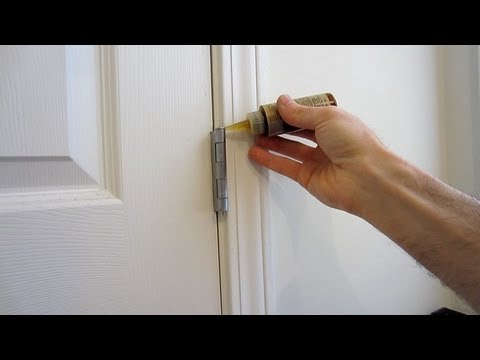 How To Silence A Squeaking Door Hinge Youtube
