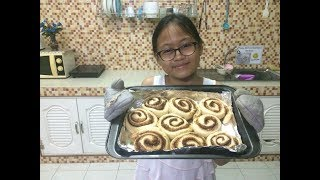 Quick & easy cinnamon rolls by my ESL Baking student - Im