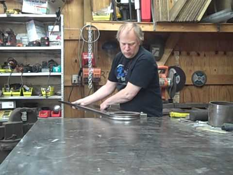 Hand Bending 1 Quot Square 18 Gauge Steel Tubing To A 4 1 2