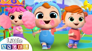 Rides at the Theme Park | Little Angel Kids Songs & Nursery Rhymes