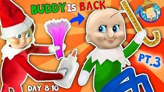 BALDI Elf on the Shelf gets New HAIRDO! Days 8, 9 & 10 (FUNnel Fam Christmas Vision)