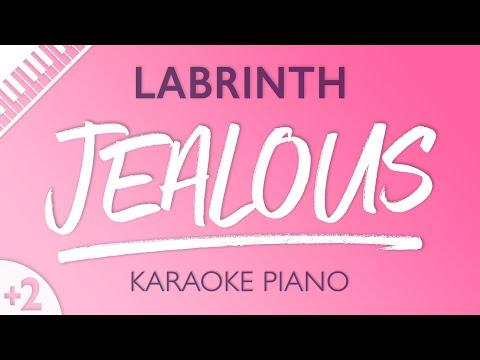 Jealous (Higher Key - Piano Karaoke Instrumental) Labrinth