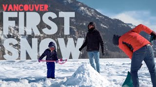 Canada vlog: First Snow | Vancouver Trip and travel vlog