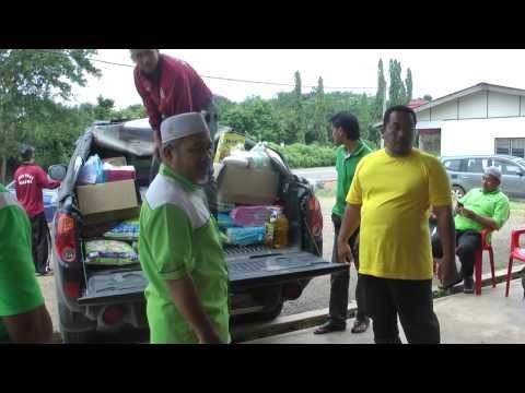 Banjir Pahang : Naib Presiden PAS Ziarah Mangsa Banjir Chenor
