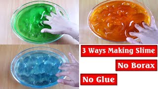 DIY 3 Ways To Make Clear Slime NO GLUE AND NO BORAX ( Dish Soap, Mouthwash, Floor Cleaner)