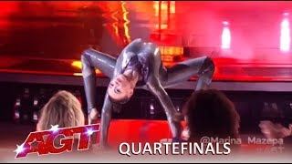 Marina Mazepa: CREEPY and SEXY Girl Has Judges Fighting Each Other | America's Got Talent 2019