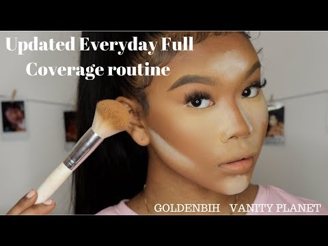 Updated Everyday Full Coverage routine with new brushes! | GOLDENBIH