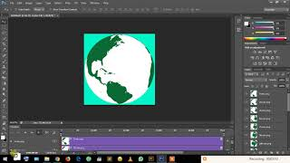 How to create Animated GIF of Rotating Earth using Adobe Illustrator and Adobe Photoshop.