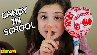 HOW TO SNEAK CANDY INTO CLASS!! (SLIME SCHOOL DETENTION!!)