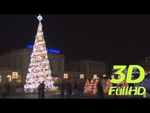 [3DHD] Merry Christmas, Cracow, Poland / Wesołych Świąt, Kraków, Polska