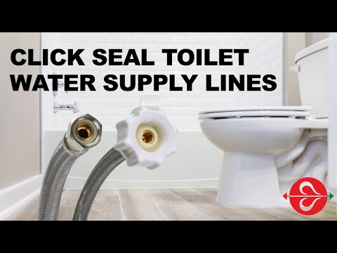 """Fluidmaster, the #1 toilet repair brand worldwide, carefully designs and manufactures each component that contributes to a working toilet, including the important part that connects the toilet to the water source. Quick Seal Toilet Connectors, which function similar to a car gas cap, ensure the perfect seal with a """"click"""" sound that lets the plumber or homeowner know the connector is sealed."""