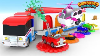 Learn Colors and Vehicle Names for Kids Animation Video!