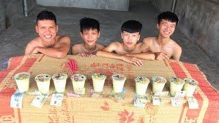 Hữu Bộ   Thử Thách Uống Hết 10 Cốc Trà Sữa Nhận Tiền Thưởng