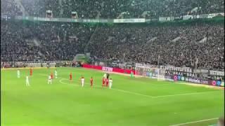 Tor/Goal 2:1 - Borussia Mönchengladbach vs FC Bayern München, 07 12 19, Gladbach Bundesliga
