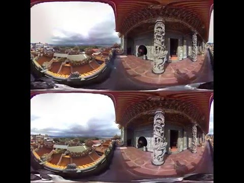 [3D360 video] Walking through Taipei Guandu Temple in Taiwan - 1