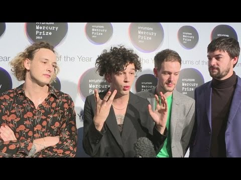 The 1975 front man wears a catsuit to Mercury Awards