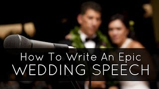 How To Write A Wedding Speech. How to Write your Best Man Speech or Maid of Honour Speech