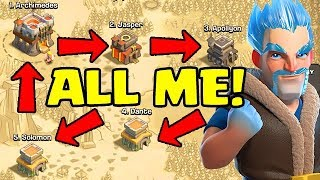 WAR WITH MYSELF!  5v5 in Clash of Clans
