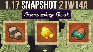 Minecraft 1.17 Snapshot 21w14a Raw Gold, Iron & Copper (Works With Fortune)